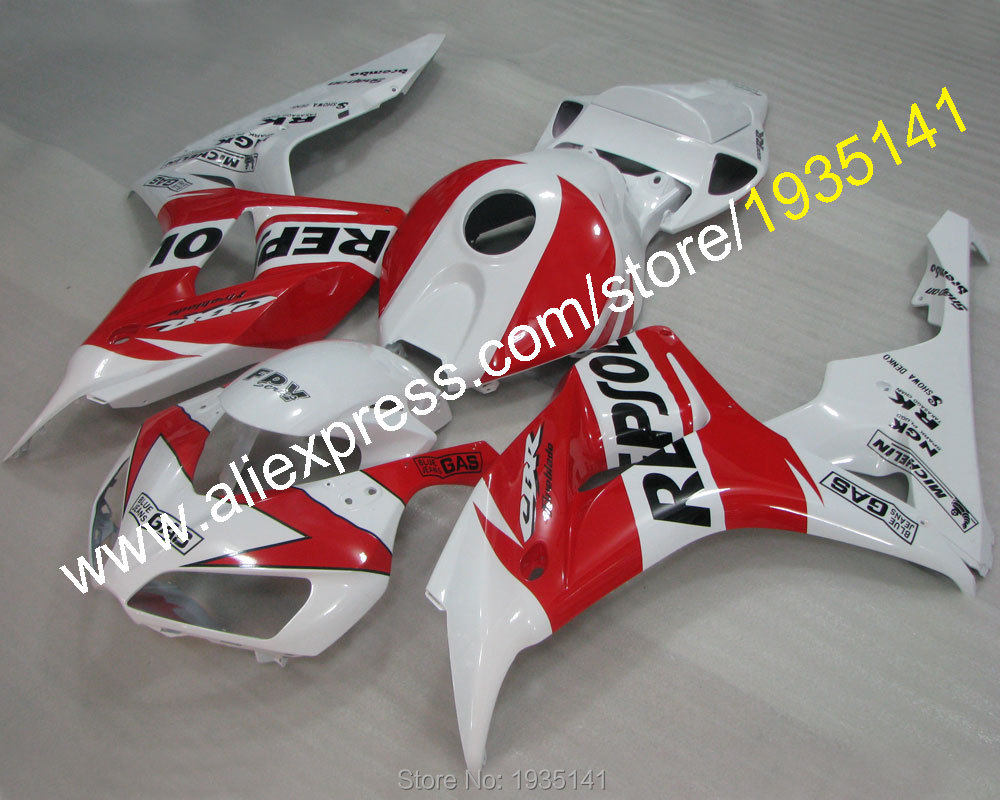 Hot Sales,Repsol kit For Honda 2006 2007 CBR1000RR 06 07 1000 RR CBR red white bodywork fairing of motor (Injection molding) injection mold fairing for honda cbr1000rr cbr 1000 rr 2006 2007 cbr 1000rr 06 07 motorcycle fairings kit bodywork black paint