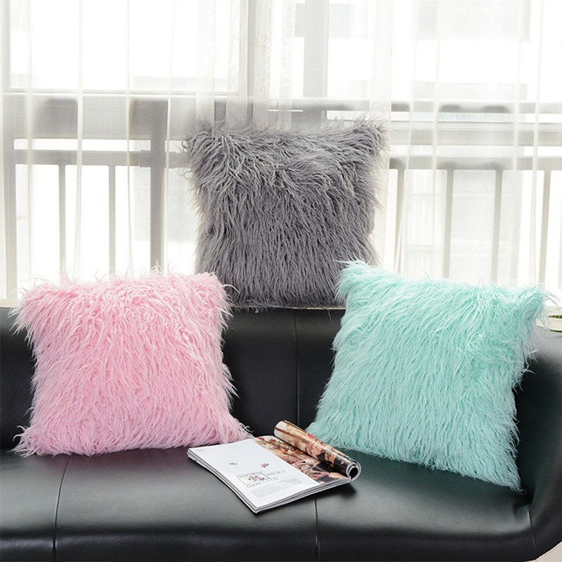 High Quality Fluffy Plush Sofa Bed Car Office Cushion Home Decor Stuffed Bedding Pillow Coussin Super Soft Pillowslip in Cushion from Home Garden