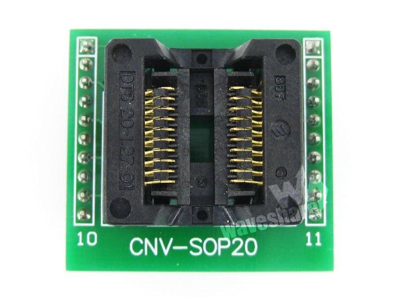 все цены на  module Waveshare SOP20 TO DIP20 OTS-20-1.27-01 Enplas IC Programmer Adapter Test Socket for SOP8-SOP20 SO8-SO20 SOIC8-SOIC20 Pac  онлайн