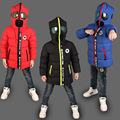 High Quality Boys Thick Down Jacket Cartoon Winter New Children Long Sections Warm Coat Clothing Boys Hooded Down Outerwear P109