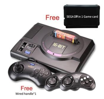 Wireless HDMI AV version for sega 16 bit tv video game console for sega megadrive game consolewith free 18 sega game cartridge