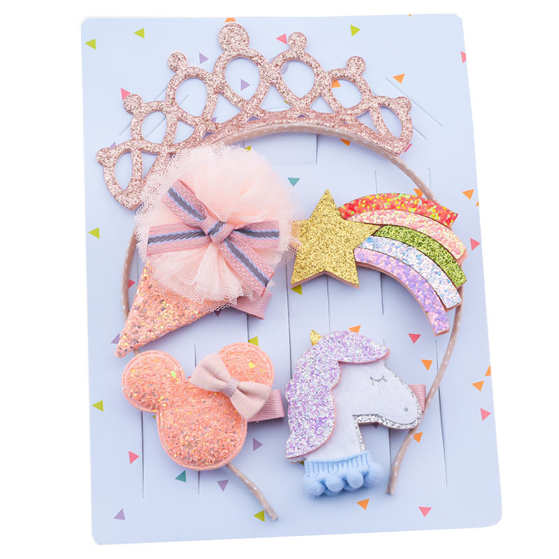 Hair Bows With Unicorns and Crowns