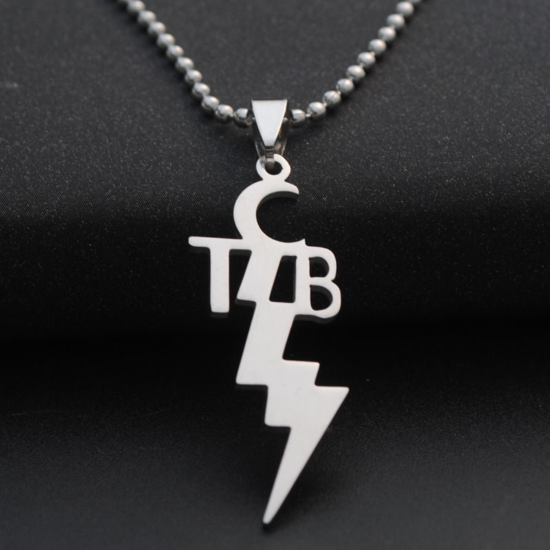 10pcs/lot New Women Fashion Stainless Steel pendant TCB ELVIS PRESLEY Necklace Jewelry 3 chains to choose men necklaces jewelry snap button jewelry