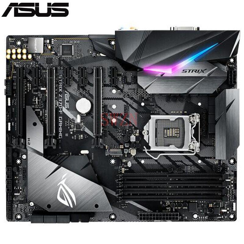 original New Desktop motherboard For ASUS ROG STRIX Z370-F GAMING Z370 LGA 1151 4*DDR4 support 64G 6*SATA III 2*M.2 ATX asustek asus rog strix z370 h игровой материнской платы intel z370 lga 1151