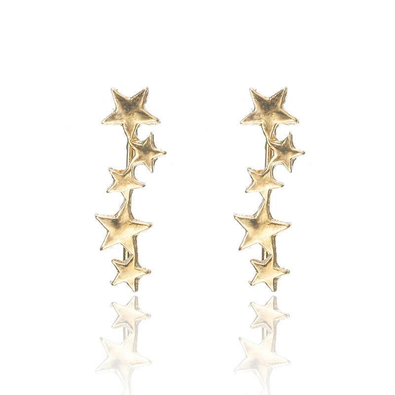 2019 Hot Sale Spike Anting Oorbellen Aretes Edisi Korea Fashion Sederhana Baru Anting-Anting Yang Indah Telinga Klip Kuku Perhiasan Wanita