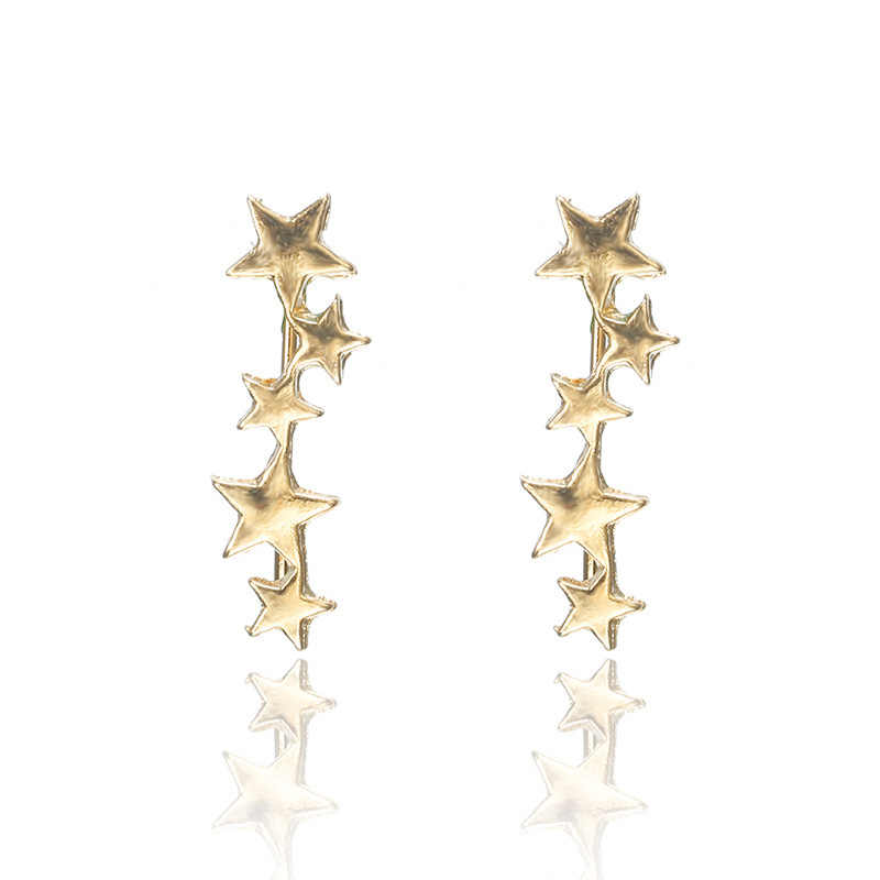 2019 Hot Sale Spike Earing Oorbellen Aretes Korean Edition Fashion Simple New Earrings Exquisite Ear Clip Nail Ladies Jewelry