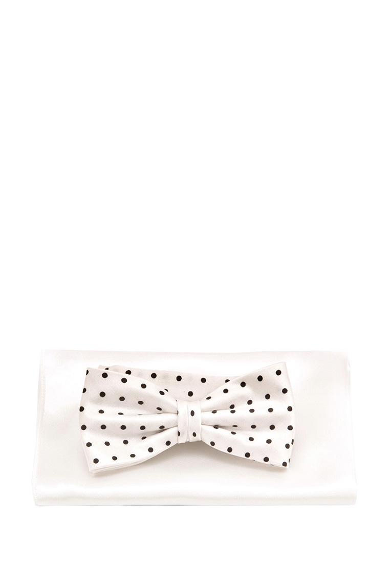 [Available from 10.11] Bow tie male handkerchief GREG Greg poly 24 white 307 1 65 White shdede white 65