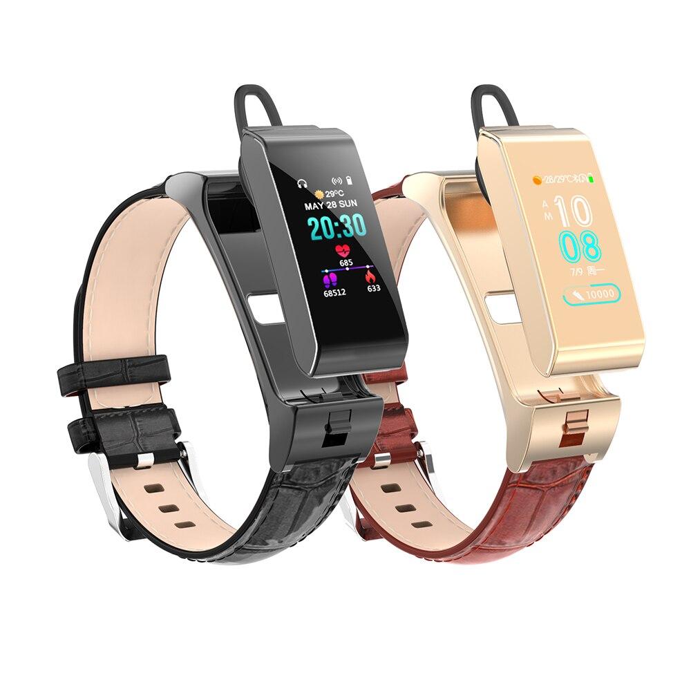 Bracelet intelligent Bluetooth écouteur fréquence cardiaque tension artérielle Bracelet Fitness Tracker Bluetooth casque pour bande Android IOS