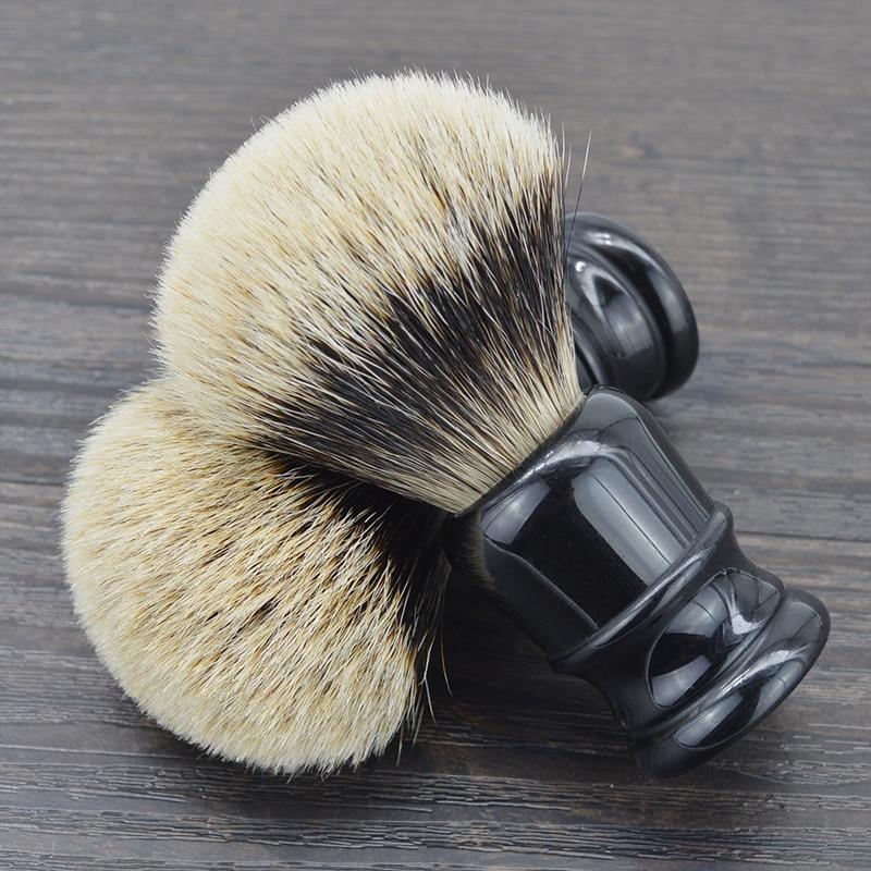 DSCOSMETIC Men 2 Band Badger Hair And Black Resin Handle Shaving Brush