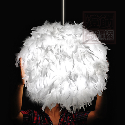 New Arrival  modern Badminton Ball Feather Lamp Child Pendant Light D40cm New Arrival  modern Badminton Ball Feather Lamp Child Pendant Light D40cm