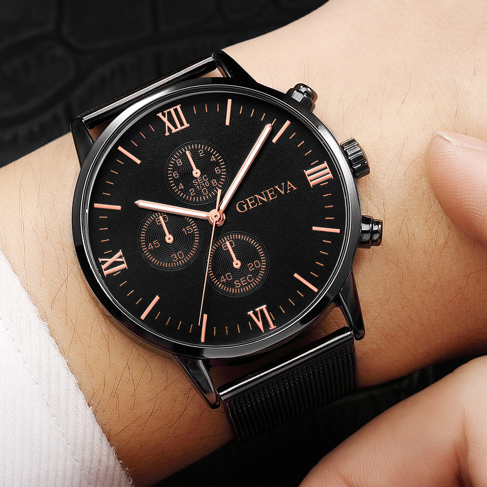 watch man watches mens 2019 Rose Gold Men's Wrist Watch Sport Stainless Steel Band Quartz Analog relogio masculino Fashion