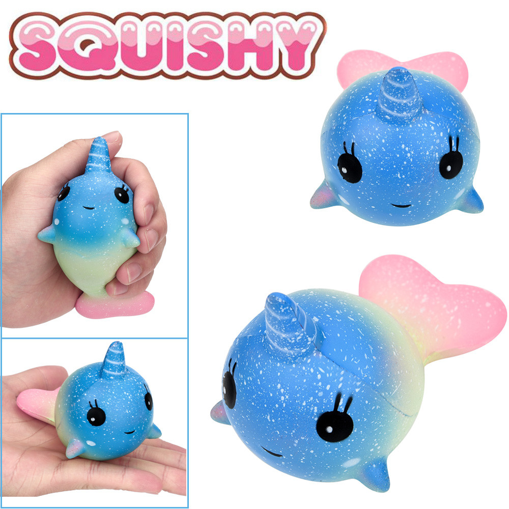 12Cm Exquisite Fun Colorful Whale Scented Squishy Charm Slow Rising Simulation Kid Toy Children Adults Relieves Stress Anxiety