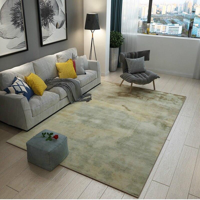 Post-moderne Art tapis décor à la maison chambre tapis canapé Table basse tapis de sol tapis d'étude douce Rectangle tapis nordiques tapis de chevet - 5