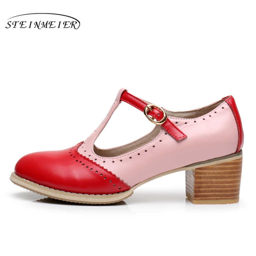 100% echtes kuh leder sandalen casual dame schuhe vintage handgemachte oxford schuhe für frauen sandalen schuhe schwarz braun rosa sommer