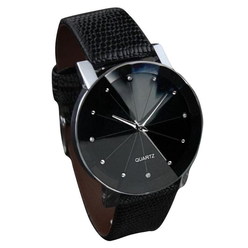 Best Mens font b Watches b font Luxury Brand 2018 Faux Leather Stainless Steel Dial Quartz