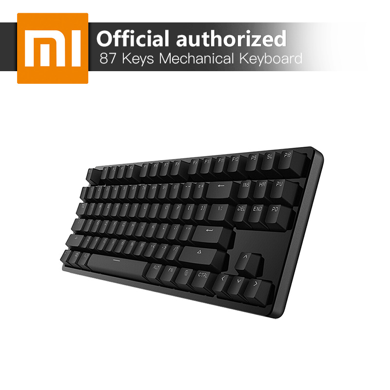 Xiaomi 87 Keys Blue Switches Professional Mechanical Gaming Keyboard LED Backlit Backlight USB Wired for PC Laptop Gaming Office rainbow gaming backlight keyboard 87 keys colorful mechanical keyboard with blue black switches desktop for pc laptop