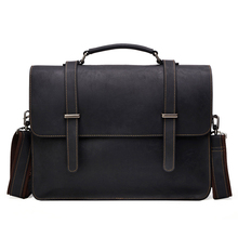 a4bf45be87a New Genuine Leather Business Men  S Bag Mad Horse Skin Retro Style Cross  Handbag Briefcase