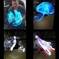 WIFI 3D Olografica Del Proiettore di Marchio Proiettore Portatile Lettore Ologramma 3D Olografica Dispaly Fan Unico Nudo Eye3DProjector