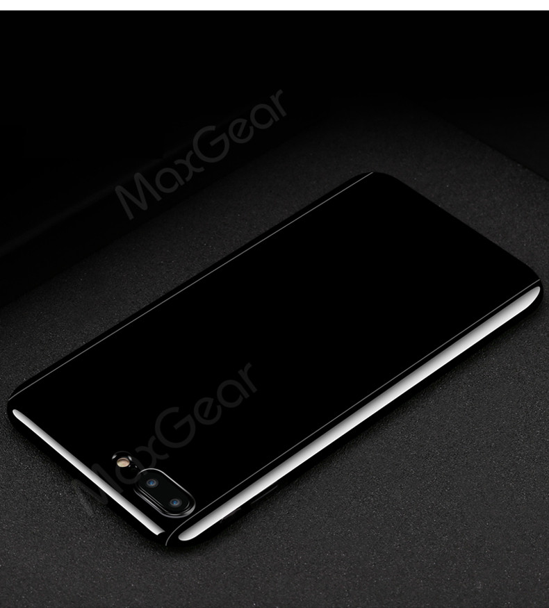 Luksusowe Piano Black 360 Stopni Ciężka PECET Skrzynki Dla Apple iPhone 5 5S SE 6 6 S 7 Plus Szczupła Całe Ciało Pokrywa Capa + Szklany Ekran Protector 9