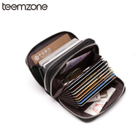 Trend Women Mens Unisex Genuine Leather Wallet Multi Card Slot Casual Credit Card ID Holder Money