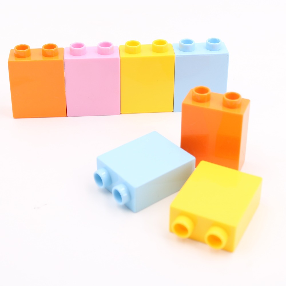 Building Blocks Spare Parts 2 Dots Higher Big Size Block Classic Higher Brick Toys Compatible With L Brand Duploe Block Toys