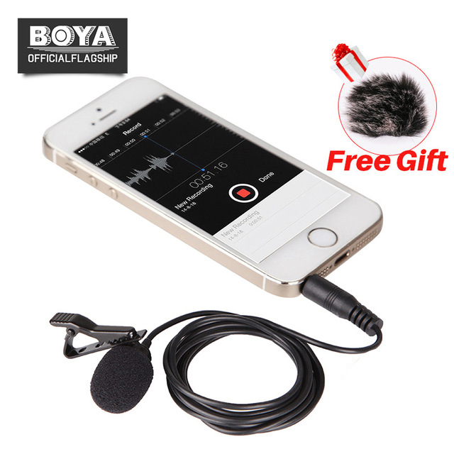 Boya By Lm10 Smartphone Omnidirectional Lavalier Microphone Phone
