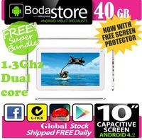 10.2 inch 40GB Boda GOOGLE ANDROID Jelly Bean 4.2 TABLET PC CAPACITIVE SCREEN E READER PAD TAB Bundle 32GB TF CARD