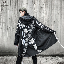 Novel ideas 2018 Overcoats Men High Street Printing Hip Hop Punk Style Long