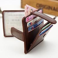 Real Leather driving license card case multi card slots package slim card holder men credit card wallet bag
