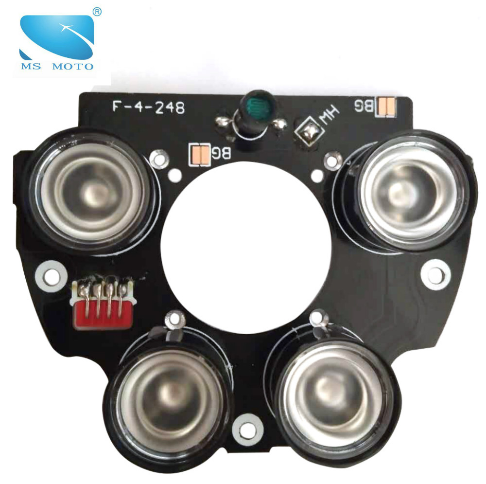 4PCS 42mil Chip High Power Array IR LED Light Board CCTV Security Camera Infrared Light Board Surveillance Accessory 60-90m