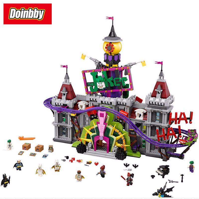 07090 Batman Movie The Joker Manor Super Heroes Series Building Block Brick Toy Compatible with Legoings Batman 70922 1pc super heroes catwoman robin joker batman movie figures poison harley quinn building blocks compatible with legoingly batman