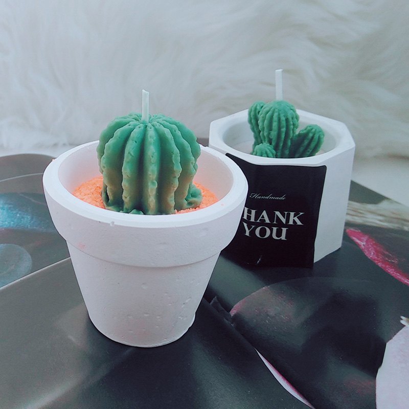 Mini Cactus Silicone Candle Molds Succulent Plants Plaster Silicone Mold Wax Candle Mold Tiny size