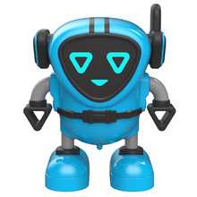 Children Early Education Gyro Robot Multiple Gameplay Robot DIY Inertia Puzzle Robot Toy - Blue цены