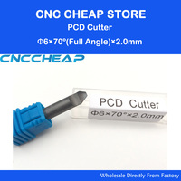 D6mm*A70*2.0 stone engraving bits PCD Diamond Marble CNC engraving tools