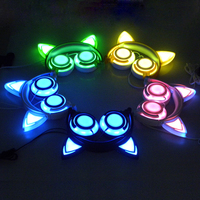 NEW Fashion LED Light Gaming Headphones With Cat Ears Shape For PC Computer Mobile Phone