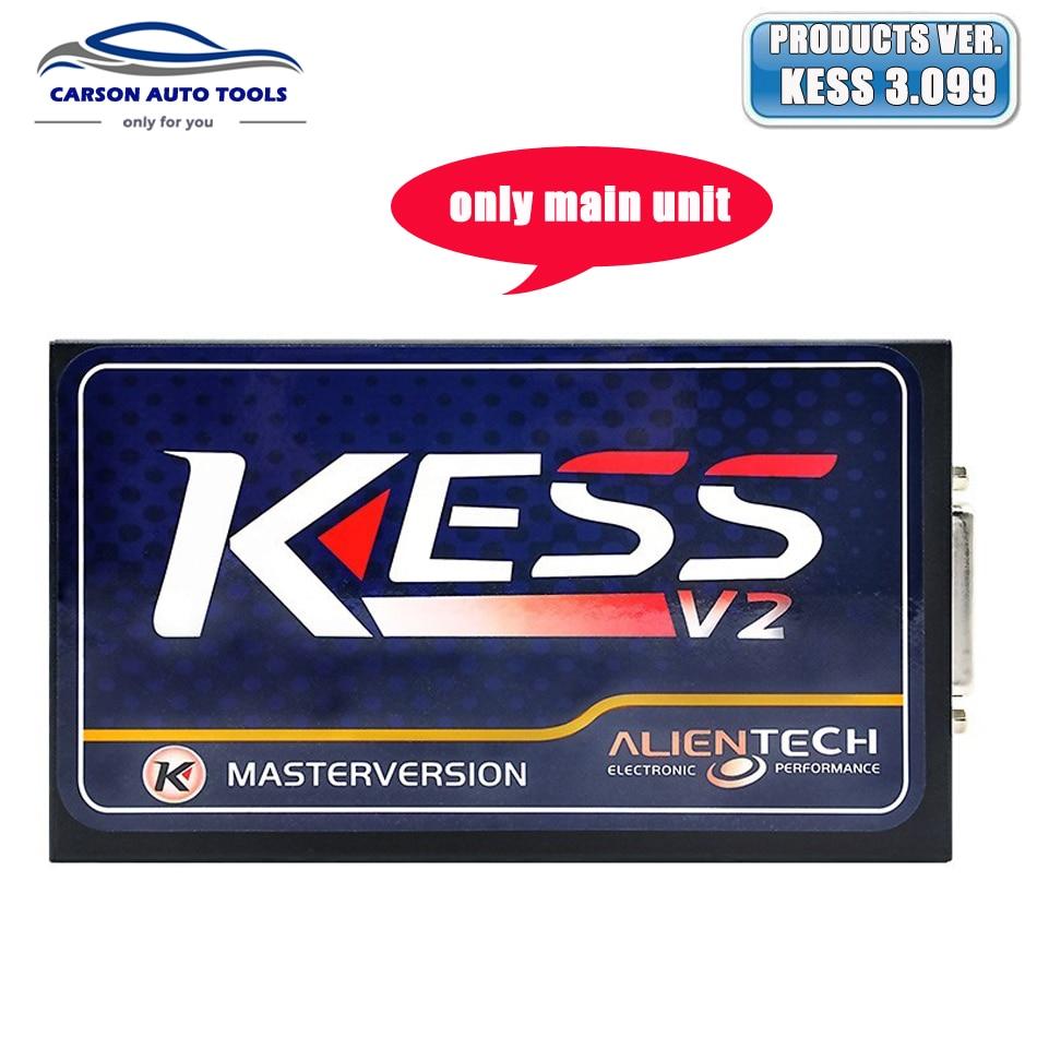 Prix pour En gros prix kess v2 v3.099 unité principale v2.30 maître obd2 gestionnaire tuning kit aucun jeton limitation livraison ecm titanium logiciel