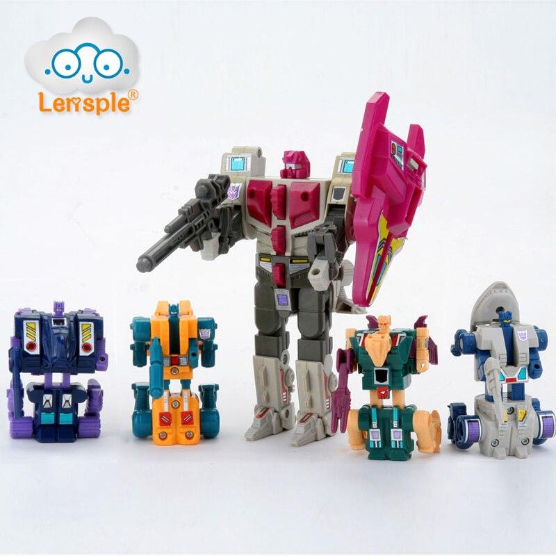 Lensple 5 EM 1 Transformação KO infernocus Abominus G1 Reissue Figura de Ação Versão Masterpiece Classic Collection Brinquedos Robô