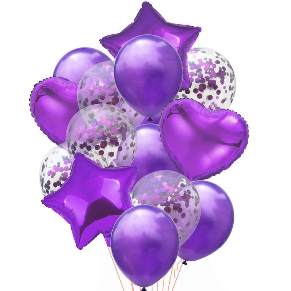 """LAPHIL 14 шт мульти воздушный шар """"Конфетти"""" Happy День рождения шары синий розовый баллоны с гелием мальчик девочка Baby Shower вечерние поставки"""
