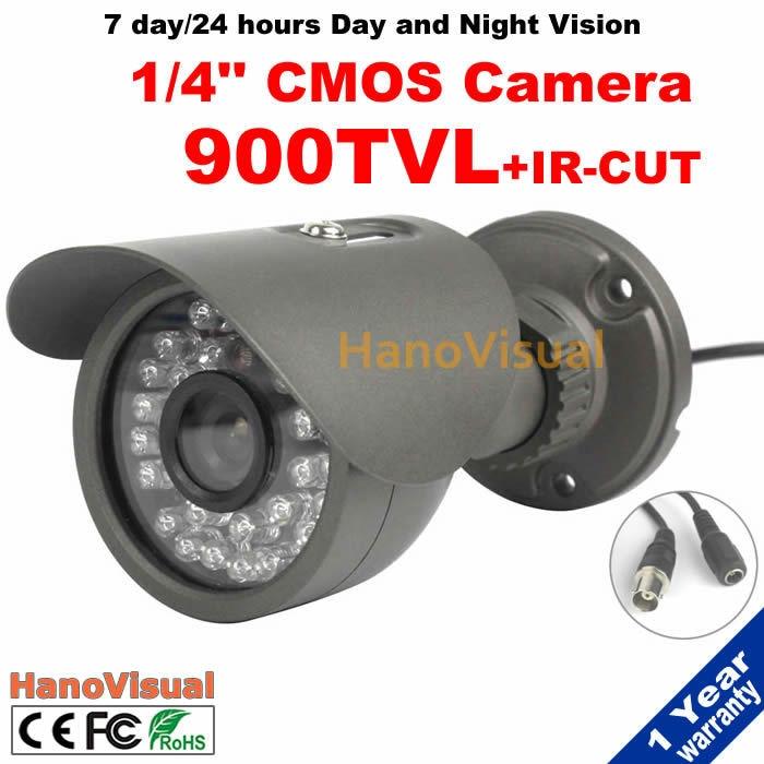 ФОТО Home Security CCTV Camera 900TVL Color Image 30LEDS Night Vision IR Surveillance Camera Metallic Shell Waterproof Outdoor Camera
