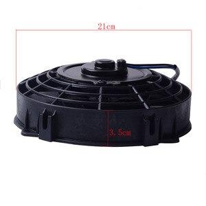 "Image 5 - SPEEDWOW Universal 7"" Motor Engine Radiator Oil Cooler Cooling Electric Pull Push Fan Radiator Engine Cooling Fan 12V 80W"