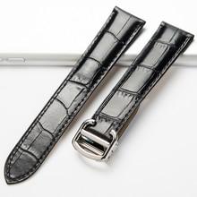 OTMENG Watch Band For Cartier Tank Solo W6700255 Genuine Leather Watch Strap 20/22/23/24/25 mm Bracelet For Men/Women Watchbands