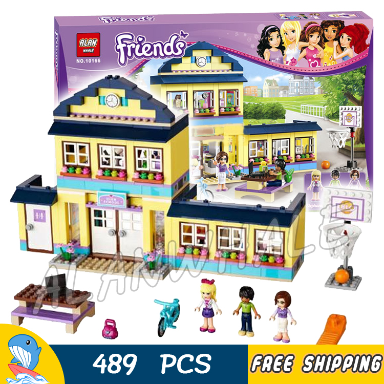 489pcs Friends Heartlake High Performance School Stephanie 10166 Model Building Blocks Princess Toys Bricks Compatible with Lego рубашка джинсовая sisley sisley si007ewxob98