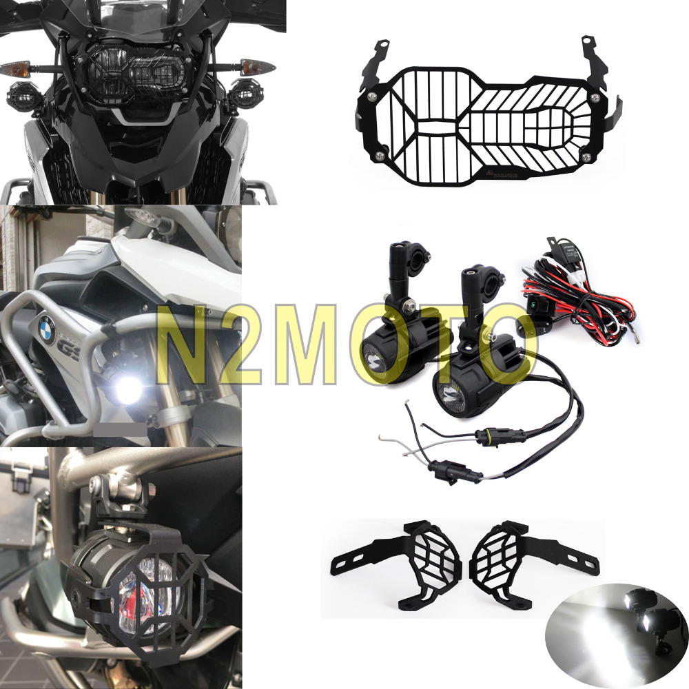 Buy For Bmw R1200 Gs Motorcycle Led Spotlight Fog Light Wiring Headlight Grill Guard Driving Harness Kit F800gs Versys Ktm 12 16 From