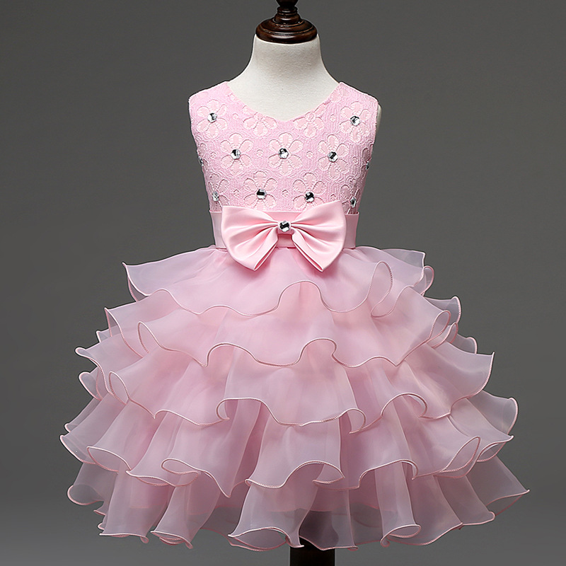 Summer Dress For Girls 2016 Princess Baby Wedding Party Dresses Girls Clothes 1-8 Years Bridesmaid Kids Costume Children Clothes baby girls party dress 2017 wedding sleeveless teens girl dresses kids clothes children dress for 5 6 7 8 9 10 11 12 13 14 years