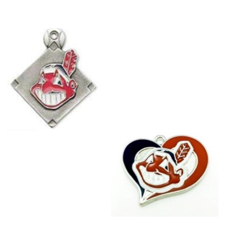 Бейсбол команд Кливленд мотаться Талисманы для DIY Для женщин Цепочки и ожерелья & браслет и серьги ювелирные изделия