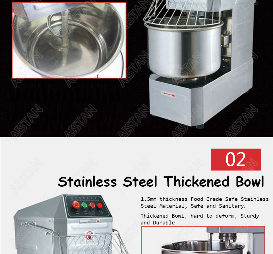 SSD20 20L/30L electric commercial 2-speed spiral dough mixer food mixer machine 4