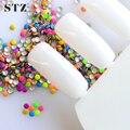 1000 unidades/pacote 2 x 2 mm Nail Art redondas minúsculas Rivet Studs para Nails Sticker novas cores misturadas pedrinhas decorações Nail Art NC220
