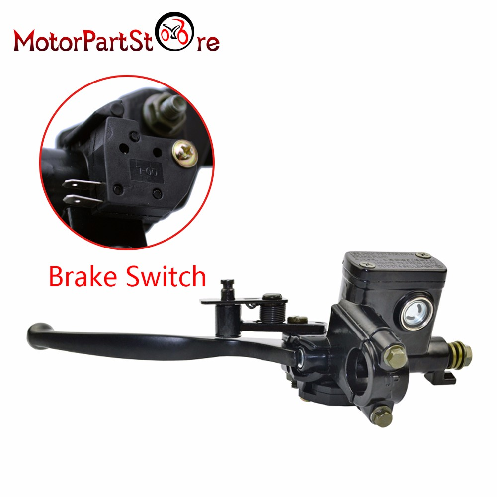 Left Side Hydraulic Master Cylinder Brake Lever 50cc 90cc 110cc 125cc pump ATV Quad Dirt Bike Moped Scooter @20 lifan 125 125cc engine left crankcase stator rotor casing case dirt bike atv