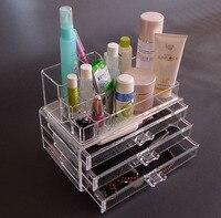 Joyas de cristal de Acrílico Organizador de la Caja/Maquillaje/Cosméticos/Pincel de Maquillaje del Lápiz Labial de Almacenamiento Sostenedor de la Exhibición Caja Estuche de Pie estante