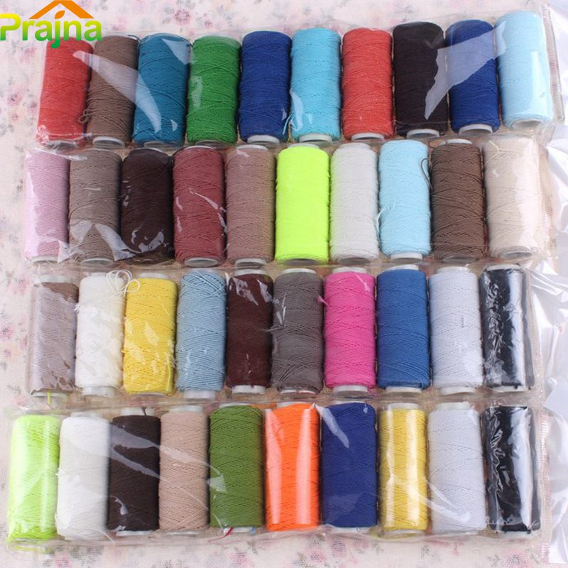 Random Color Elastic Beading Thread Set Polyester Sewing Machine Thread DIY Industry Sewing Supplies 10Pcs/Set Free Shipping